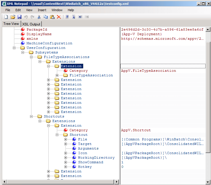 Config XML file