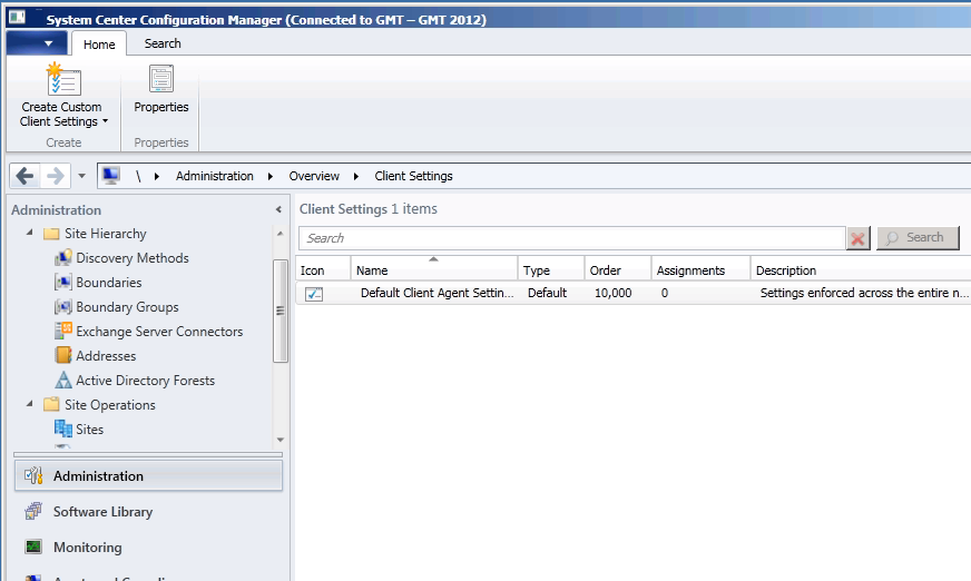 SCCM 2012 Beta 2 Management Console UI