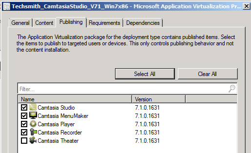 SCCM 2012 Beta 2:  App-V Shortcut Selection