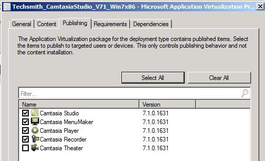 SCCM 2012 Beta 2:  App-V Shortcut Selection