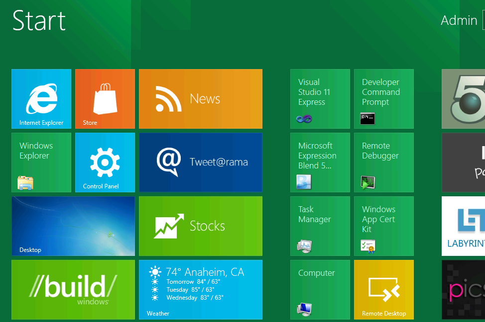 Windows 8 Start Application
