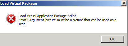 Load Virtual Package Failed.
