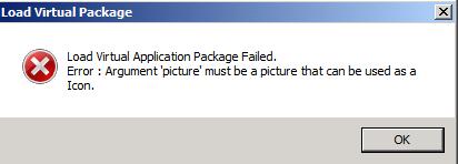 Load Virtual Package Failed.