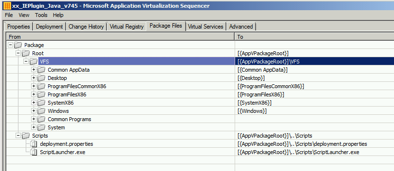 Putting your App-V Scripts directly into the  AppV 5 1 file