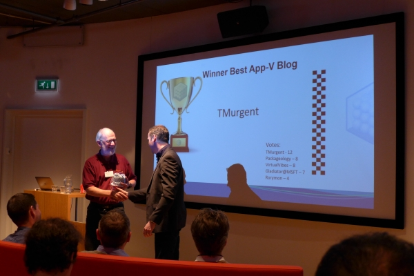 Best Blog Award for 2015, App-V User Group