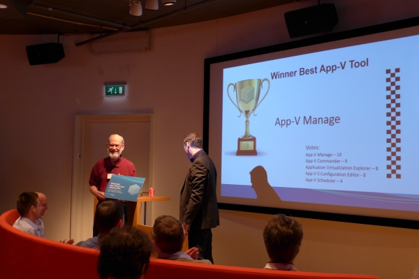 Best Tool Award for 2015, App-V User Group