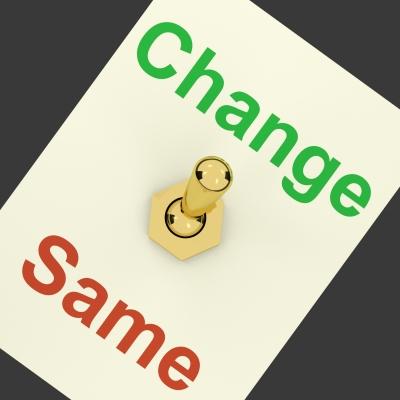 Photo about change