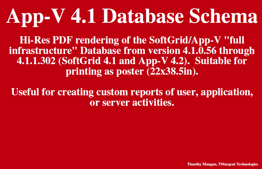 App-V Database 4.2 schema cover page image
