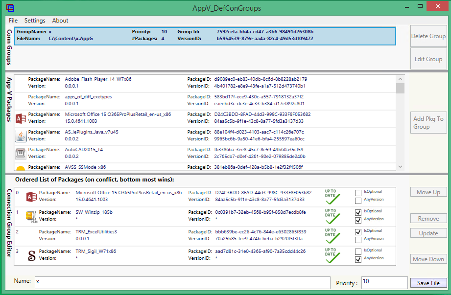 screen shot of AvDCG Tool