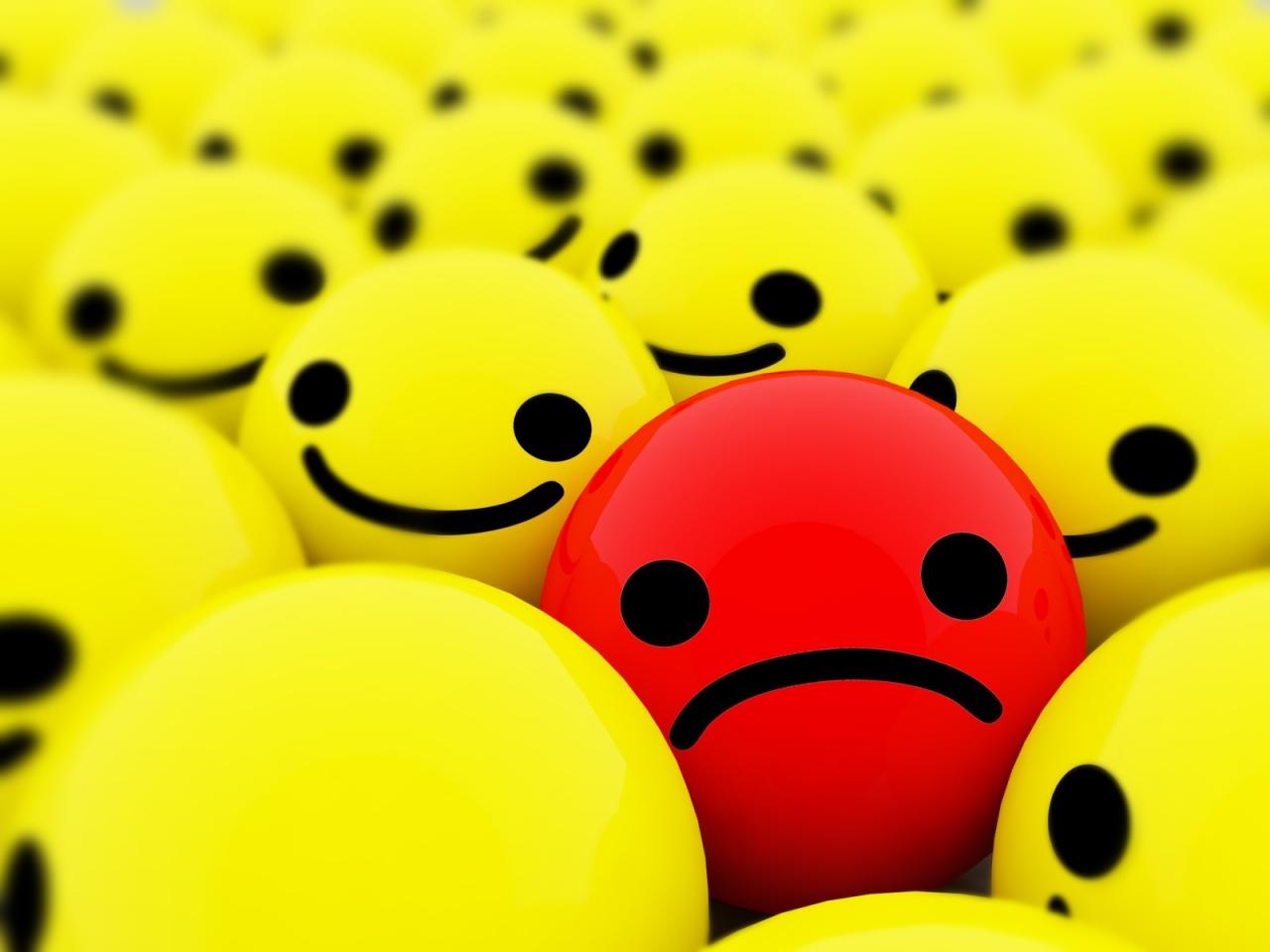 A sad face