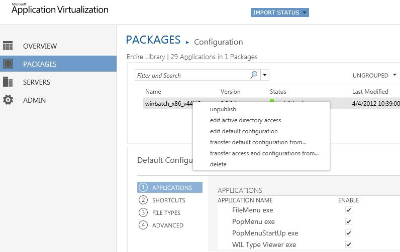 App-V 5.0 server console