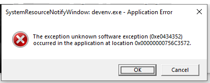 Chrome Error Dialog